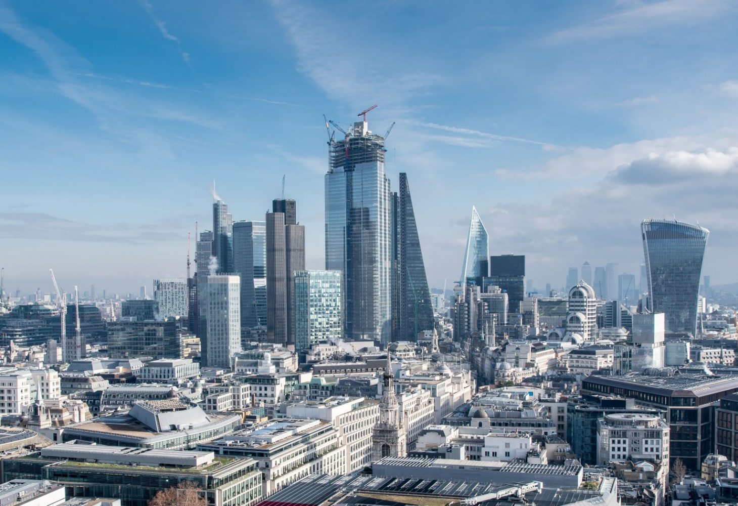 City of London urban skyline